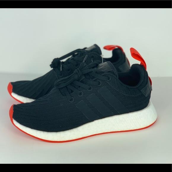 c988958cb adidas Shoes - adidas NMD R2 Primeknit Running Shoes Black Red